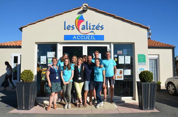 Equipe du meilleur camping de Saint Hilaire de Riez