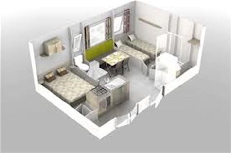 Plan 3 D du mobil home