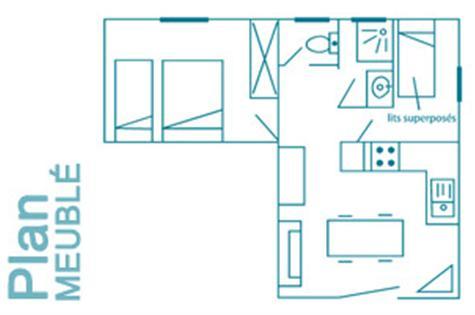 Plan de la maison meublée 5/6 personnes