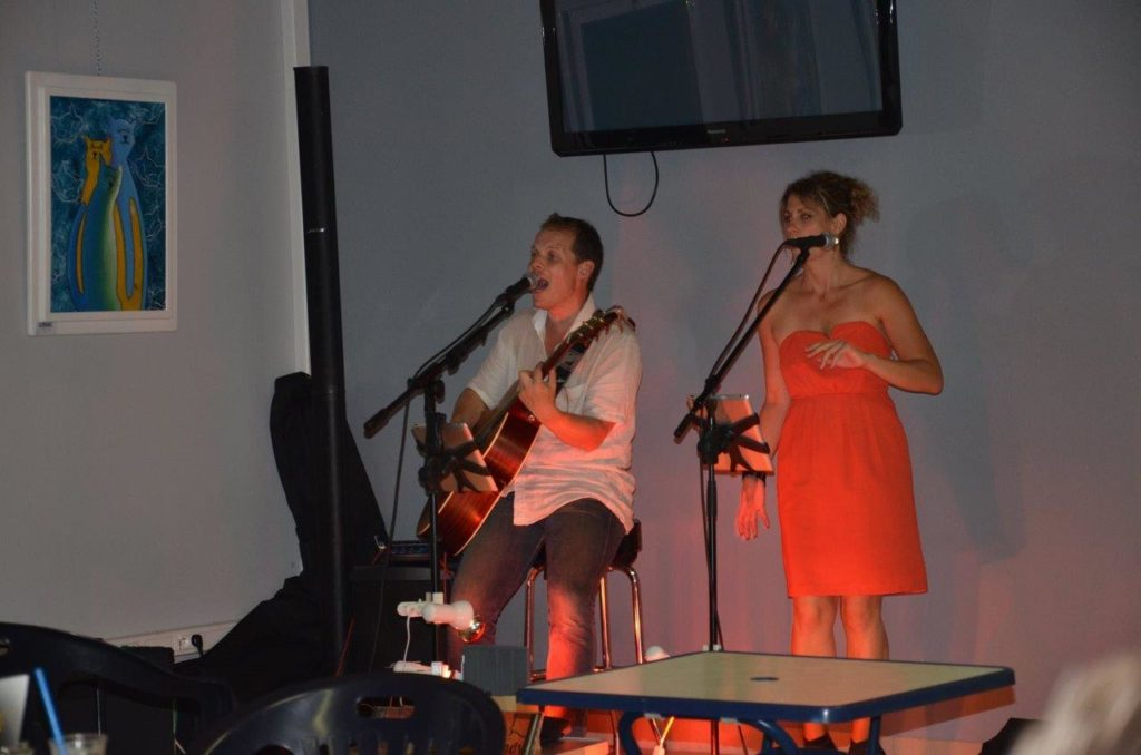 Concert groupe au camping