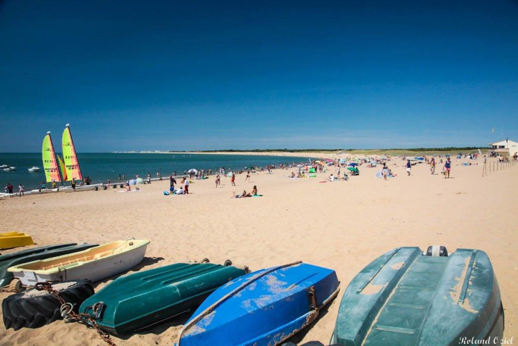 plage proche du camping à St Hilaire de Riez