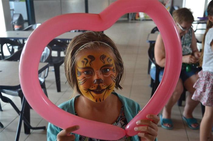 camping avec animations maquillage enfants sur la côte atlantique
