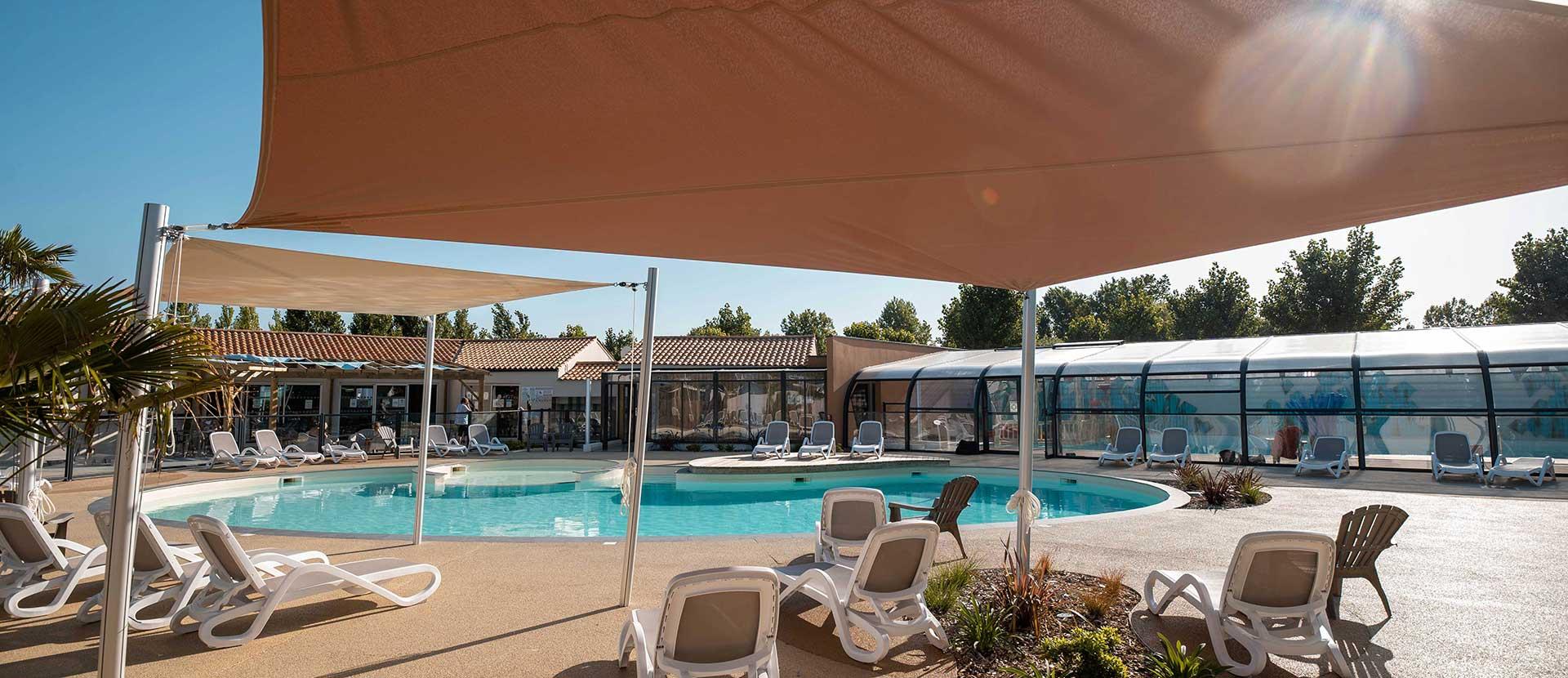 la piscine du camping à saint hilaire de riez